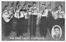 LIGHT CRUST DOUGHBOYS Burrus Mills Western Music Band ca 1940s Vintage Postcard