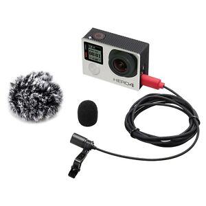 EACHSHOT Lavalier Microphone Omni-Directional Condenser Mic for GoPro Hero3 3+ 4