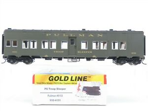 HO Scale Walthers Gold Line 932-4151 Pullman PS Troop Sleeper Passenger #9153