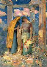 Mystical Conversation  by Odilon Redon Giclee Canvas Print Repro
