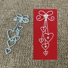 Diy Heart Metal Cutting Dies Stencil Scrapbooking Album Paper Card Crafts Silver
