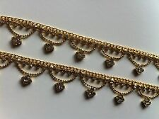 Beautiful Gold Plated Four Triangle Zarqonia Chain Zanjeer Style Anklet Payal