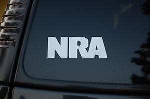 NRA Vinyl Sticker Decal (V59) Gun Rights Rifle National Rifle Association Truck