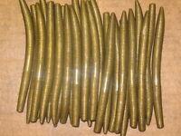"50 - 5"" Metallic Bronze Senko Style Plastic Bass Fishing Worms Top Quality 5S773"