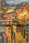 Gobelin Tapestry Panel Textile Picture without Frame Romantic Date 18 7/8x26in