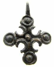 CRUSADERS PERIOD BRONZE CROSS PENDANT - ANCIENT WEARABLE ARTIFACT SUPERB - F273
