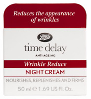 Time Delay Wrinkle Reduce Night Cream Anti-Ageing 50ml Boots/Facial/Face/NEW