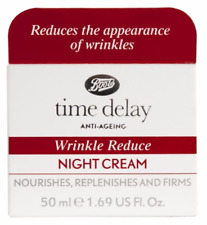Time Delay Wrinkle Reduce Night Cream Anti-Ageing 1x50ml Boots/Facial/Face/NEW