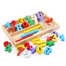 Kids Child Wooden Numbers Mathematics Early Learning Counting Educational Toy