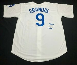Yasmani Grandal Signed Los Angeles Dodgers Baseball Jersey BAS Beckett B11163