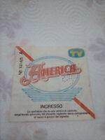 1982 - AMERICA - BIGLIETTO TICKET CONCERTO ORIGINALE - NAPOLI 1982
