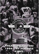 1996-97 NHL HOCKEY SCHEDULE - PHILADELPHIA FLYERS