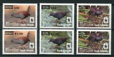 Cook Islands 2017 MNH Spotless Crake WWF 2014 OVPT Revalued 6v Set Birds Stamps