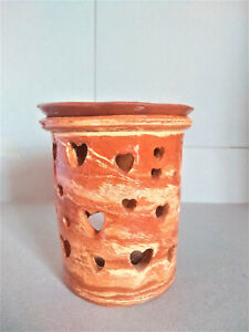 wax melt aromatherapy warmer rustic style Agateware heart shapes luminerie