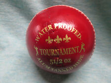 Aver Tournament 5.5oz Waterproofed Alum-Tanned Leather Cricket Ball Red