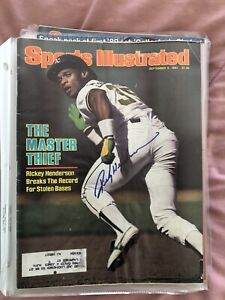 Rickey Henderson Signed Autographed Sports Illustrated Magazine