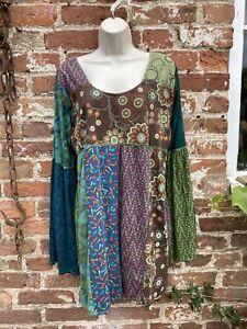 Ladies Gringo hippie/boho/alternative Patchwork  top/dress M/L