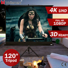 "120"" Inch Portable Tripod Projector Screen Conference Presentation HD Projection"