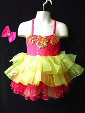 NWT!  GLAMOUR COSTUMES sequined DANCE BALLET PAGEANT COSTUME ~ SMALL CHILD