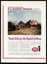 1952 MASH hospital photo Korean War B.F. Goodrich Geon resin vintage print ad