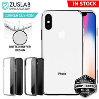 For iPhone X XS Case ZUSLAB Shockproof Slim Hybrid Ultra Clear Cover
