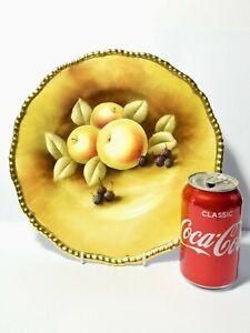 Hand Painted Signed Bruce Higham Coalport Cabinet Plate Fruits 27cm Dia.