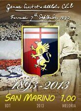Francobollo Genoa Cricket and Football Club 120 anni 1893-2013 San Marino RARO