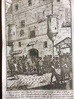 Prison de l'abbaye de Saint Germain des prés 1789 Gravure Révolutions de Paris