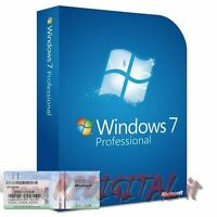 WINDOWS 7 PRO DVD + COA STICKER LICENSE ORIGINAL OPERATING SYSTEM PC NOTEBOOK