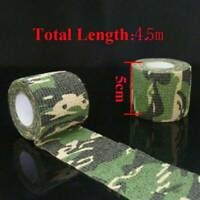 5CM*4.5M Camo Gun Hunting Waterproof Camping Camouflage Stealth Duct Wrap Tape /