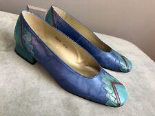 Vintage Blue Margaret Jerrolds Shoes Size 6.5M