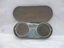 VINTAGE 1940's WW2 era A.O Co Ltd RAF Aviators airman's sunglasses with tin case