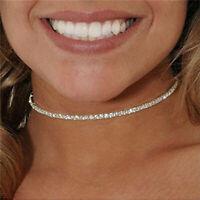 16Ct Round Brilliant Cut Diamond Women Tennis Necklace 14k White Gold Finish