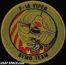 USAF 20th FIGHTER WING - F-16 VIPER DEMONSTRATION TEAM - ORIGINAL OCP VEL PATCH