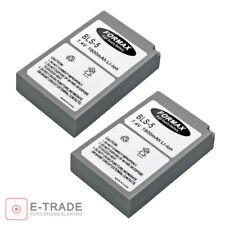 2pcs / 1900mAh Battery For Olympus BLS-5 OM-D E-M10 E-PL2 E-PL5 E-PM2 E-PL6 BLS5