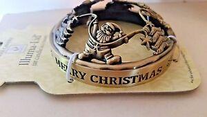 "NIB Yankee Candle Illuma Lid Topper ""Merry Christmas #1301582"