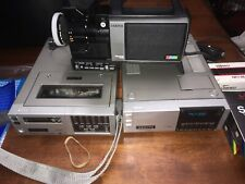 ZENITH VC1800 NEWVICON PRO VIDEO CAMERA CAMCORDER, VR9800 Recorder, And VRT9850
