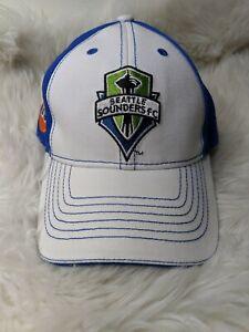 Seattle Sounders FC MLS Union 76 Promo Hat Adjustable Strapback Cap Blue White