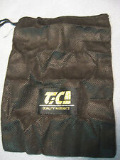 "TICA Fishing Reel Cover Bait Casting 8"" x 6"" Reel Bag, Black, String Closure"