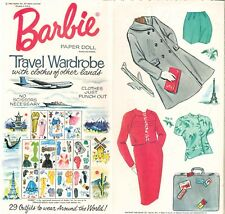 Vintage 1964 Barbie Travels Paper Dolls ~ Rare Pretty~ Uncut Laser Reproduction