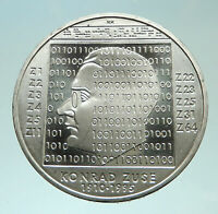 2010 GERMANY Computer Whiz Konrad Zuse Genuine Proof Silver 10 Euro Coin i76044