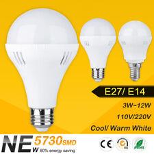 E27 E14 Bombilla LED de ahorro de energía luz 3/5/7/9/12W Frío Lámparas Blanco Cálido 110V/220V