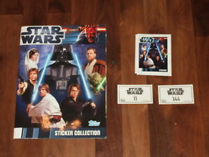 Star Wars 2012 Topps Complete Album, all loose stickers & packet with a twist….