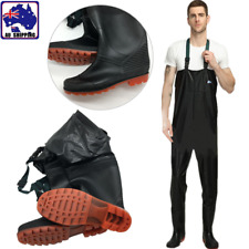 Fishing Chest Waders Waterproof w/ Boots Fishing Tackle Outdoor 8 Sizes ORAC824
