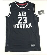 df0261b9db14 Nike Air Jordan Kids Basketball Jersey Black White Youth kids Size L 12-13  yrs