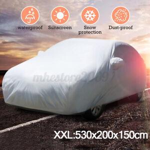 Full Car Cover Aluminum Auti-Dust Rain Resistant Snow Sun Fit For Audi XXL