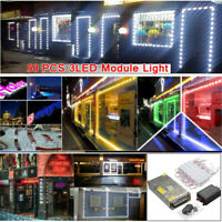 25FT 50X 5050 SMD 3-LED Module Strip Light Store Window Sign Decor Lamp + Remote