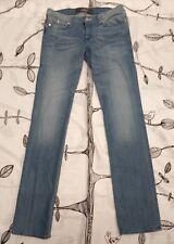 Rock & Republic Women's Stella Blue Jeans Sz 31 x 36 Straight Leg Stretch