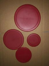 Anchor Hocking Food Storage Red Plastic Lid - Round Replacement Cover