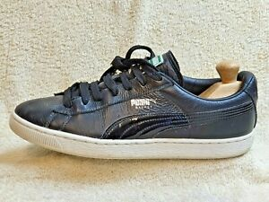 Puma Basket mens Comfort trainers Leather Black/White UK 9 EUR 43 US 10
